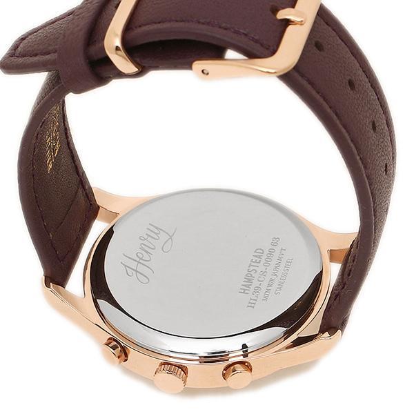 ヘンリーロンドン 腕時計 HENRY LONDON HL39-CS-0090 パ-プル ロ-ズゴ-ルド ホワイト
