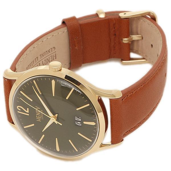 ヘンリーロンドン 腕時計 HENRY LONDON HL41-JS-0188 ブラウン イエロ-ゴ-ルド グリ-ン