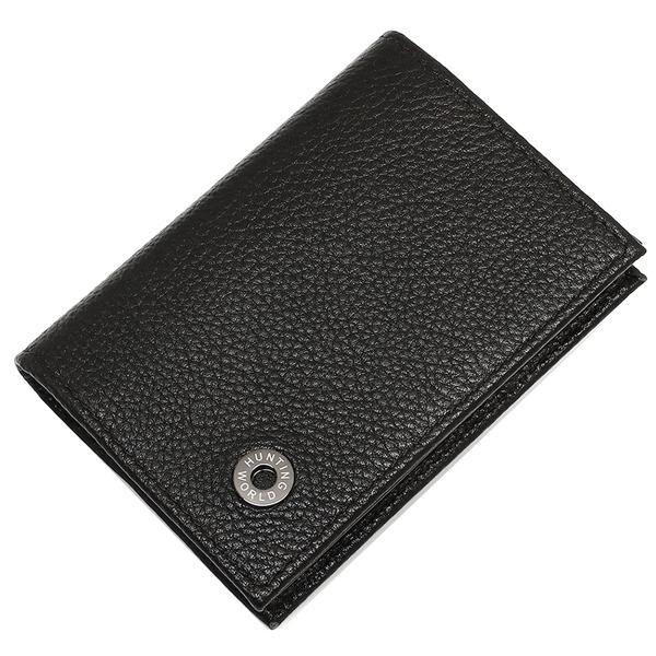 ハンティングワールド カードケース メンズ HUNTING WORLD 212-371 ブラック