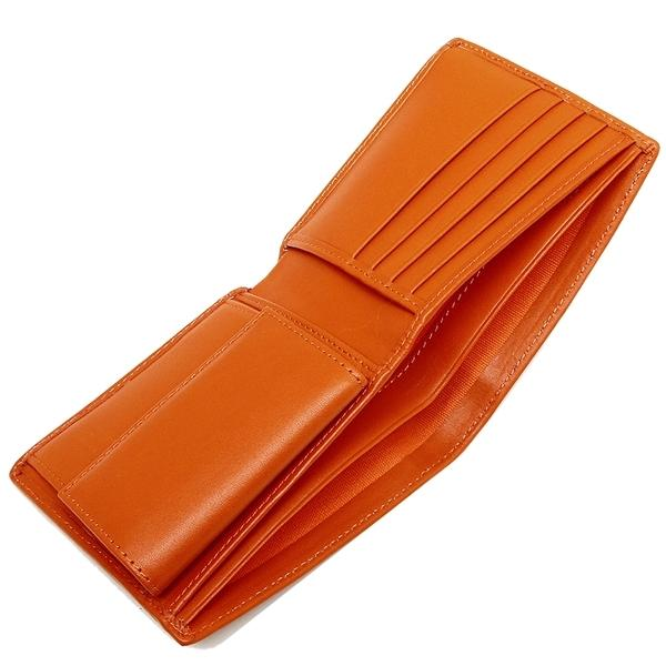 ハンティングワールド 折財布 メンズ HUNTING WORLD 674-435 ダークブラウン オレンジ