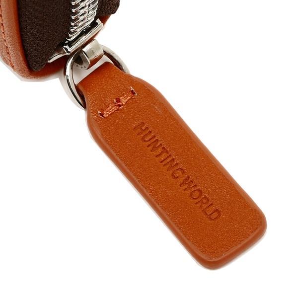 ハンティングワールド コインケース メンズ HUNTING WORLD 677-435 ダークブラウン オレンジ