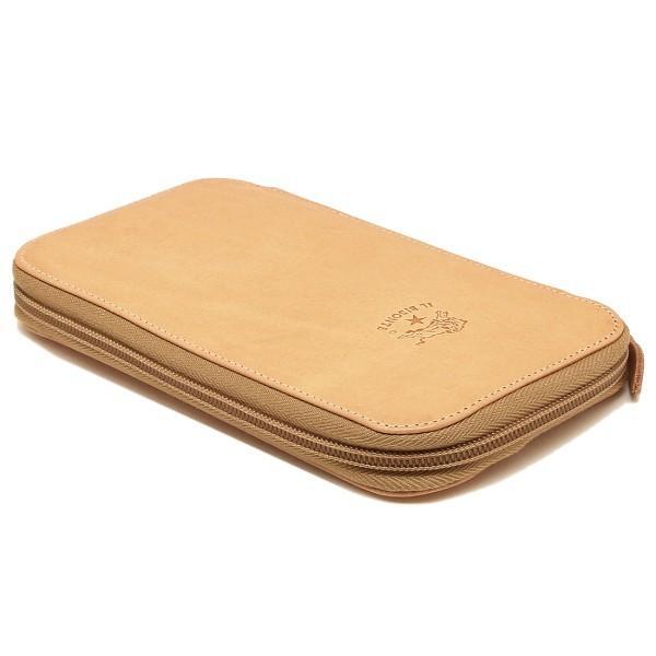 イルビゾンテ IL BISONTE C0443P ラウンドファスナー長財布 レザー 120 NATURAL/GOLD ナチュラル/ゴールド