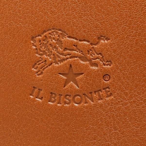 イルビゾンテ IL BISONTE C0443P ラウンドファスナー長財布 レザー 145 BROWN/GOLD ブラウン/ゴールド