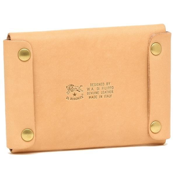 イルビゾンテ カードケース メンズ/レディース IL BISONTE C0855 P 120 ナチュラル