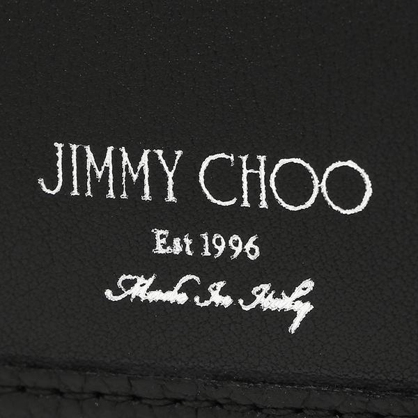 ジミーチュウ 折財布 メンズ スタースタッズ JIMMY CHOO ALBANY WALLET ブラック