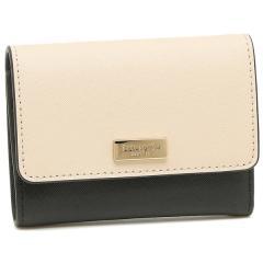 ケイトスペード 折財布 アウトレット レディース KATE SPADE WLRU5028 255 ライトベージュ ブラック