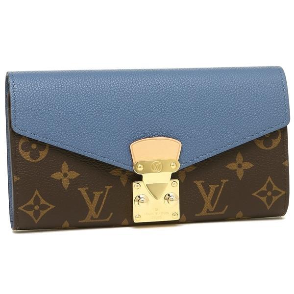pick up 2f160 1f433 ルイヴィトン 財布 レディース LOUIS VUITTON M63940 ブラウン ブルー