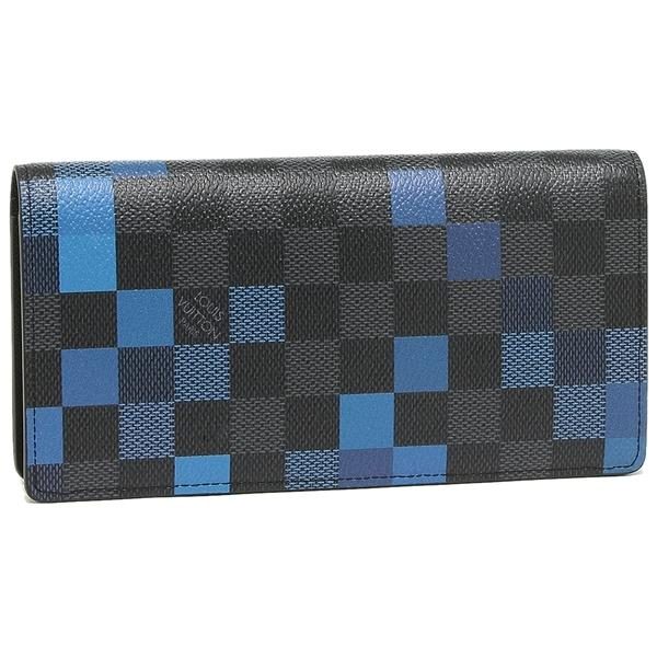 buy online 9e6ae 00edd ルイヴィトン 長財布 メンズ LOUIS VUITTON N60162 ブラック ブルー マルチ