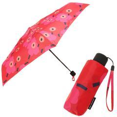 マリメッコ 傘 MARIMEKKO レディース 038653 301 MINI-UNIKKO MINI MANUAL UMBRELLA 折りたたみ傘 RED/DARK RED