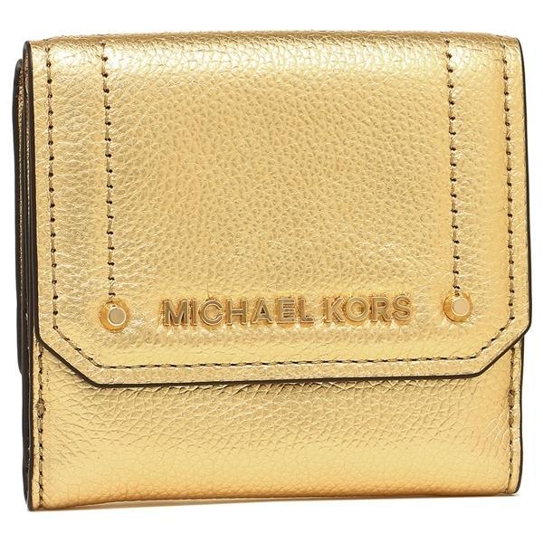 buy popular 49022 e460b マイケルコース 折財布 アウトレット レディース MICHAEL KORS 35F8GYEF2M GOLD ゴールド