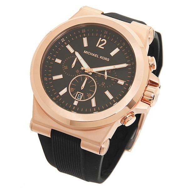 808905f78f39 ... マイケルコース 腕時計 メンズ MICHAEL KORS MK8184 ブラック ピンクゴールド ...
