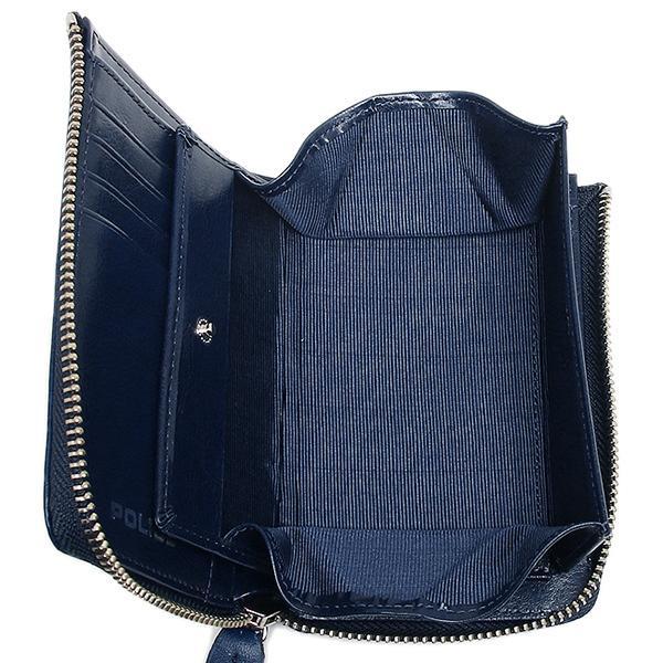 147a640aa19c LOHACO - ポリス メンズ 二つ折り財布 POLICE PLC123 ブルー (財布) AXES