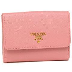 プラダ 折財布 レディース PRADA 1MH523 QWA F0442 ピンク
