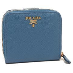 プラダ 折財布 レディース PRADA 1ML522 QWA F0215 ブルー
