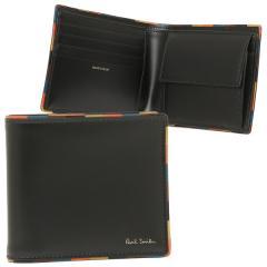 ポールスミス 折財布 メンズ PAUL SMITH 4833-AEDGE 79 ブラック マルチカラー