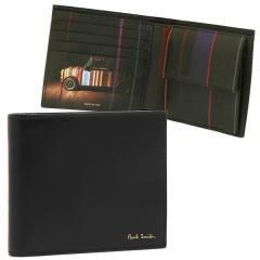 ポールスミス 折財布 メンズ PAUL SMITH 4833-W718A 79 ブラック