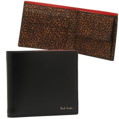 ポールスミス メンズ 折財布 PAUL SMITH 4833 W856 79 ブラック マルチ