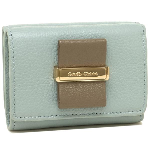 low priced 36236 1c3a8 シーバイクロエ 折財布 レディース SEE BY CHLOE CHS18AP826472 41N ブルー