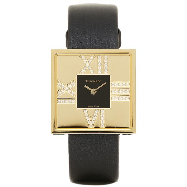 wholesale dealer 4b90b e3996 ティファニー TIFFANY & Co 時計 腕時計 レディース TIFFANY&Co Z19501050E10A40E ATLAS COCKTAIL  SQUARE LADY 腕時計 ブラック