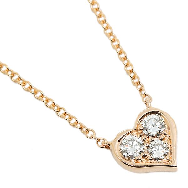 hot sales 13a65 25ab2 ティファニー ネックレス アクセサリー TIFFANY&Co. 28950136 18K センチメンタル ダイヤモンド 16IN 18R ピンクゴールド