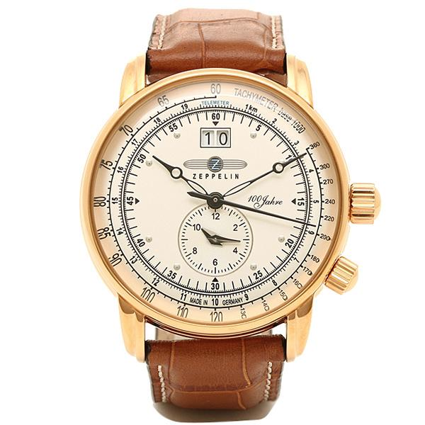 best website 5ae86 e3b8c ツェッペリン 腕時計 Zeppelin 76405 ブラウン アイボリー