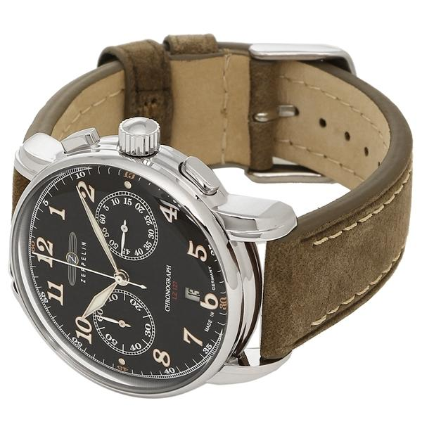 ツェッペリン 腕時計 メンズ ZEPPELIN 8678-2 ブラウン ブラック