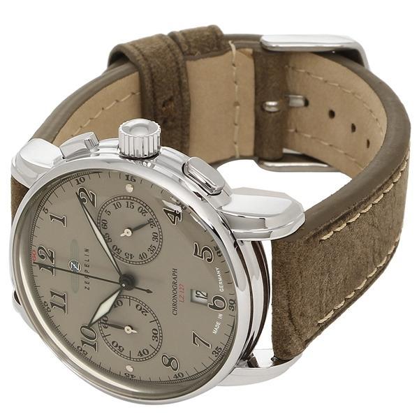 ツェッペリン 腕時計 メンズ ZEPPELIN 8678-4 ブラウン アイボリー