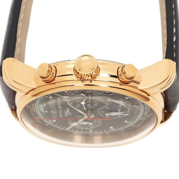 ツェッペリン 腕時計 メンズ ZEPPELIN 8682-3 ネイビー イエローゴールド