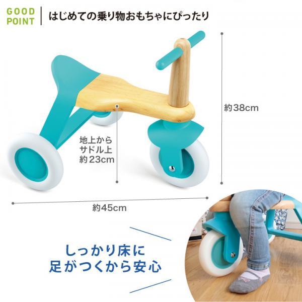 DJECO(ジェコ) ブルー ロール イット ブルー|三輪車 木 おもちゃ ギフト ラッピング無料