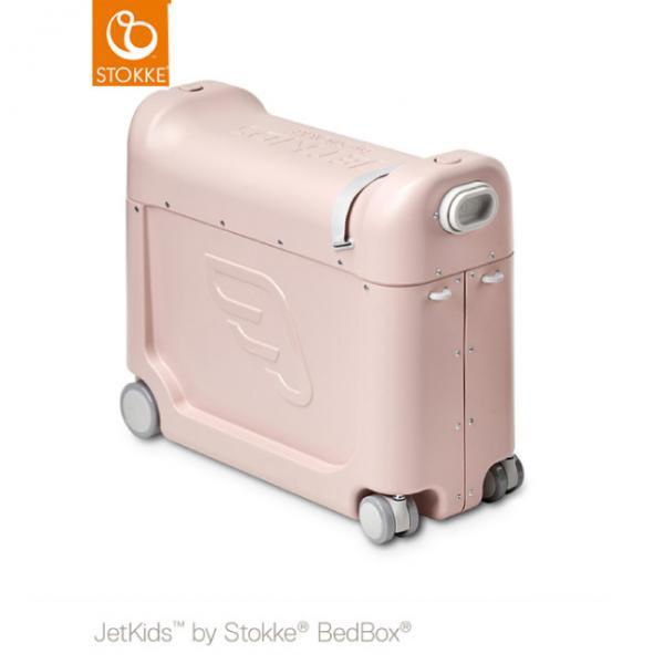 ストッケ正規品2年保証付 STOKKE JETKIDS (ストッケ ジェットキッズ) ベッドボックス ピンク|子供用キャリーケース スーツケース ライドオン 機内持ち込み