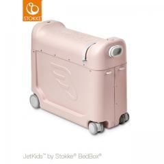 ストッケ正規品2年保証付 STOKKE JETKIDS (ストッケ ジェットキッズ) ベッドボックス ピンク 子供用キャリーケース スーツケース ライドオン 機内持ち込み