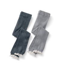 洋服と合わせやすいシンプルレギンス2枚セット  90~100