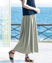 大豆繊維から作ったUVカット率99%以上のスカート 杢グレー LL