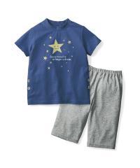 おなかが出にくいパジャマ ブルー星 110