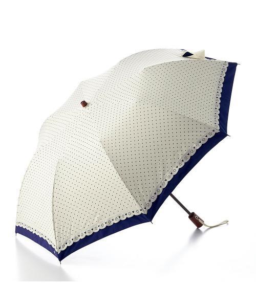 二重張り晴雨兼用日傘(折りたたみ) アイスグレー