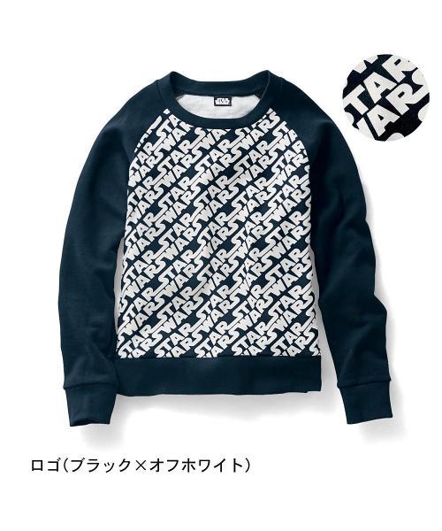 裏毛プルオーバー(レディース) ロゴ(ブラック×オフホワイト) M