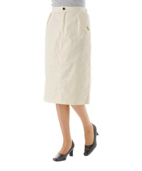 コーデュロイスカート オフホワイト S