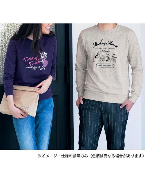 ミニ裏毛プルオーバー(レディース) ミッキー&ミニー(杢グレー) SS
