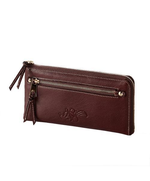 日本製レザー長財布 ブラウン ワンサイズ