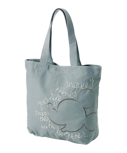刺繍トートバッグ ミッキーマウス ワンサイズ