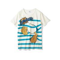 プリントTシャツ(レディース) ドナルドダック(ブルー×オフホワイト) 3L