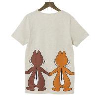 【Disney】ディズニー  つながるプリントTシャツ(レディース)  チップ&デール(オートミール)  3L