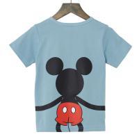 【Disney】ディズニー  つながるプリントTシャツ(キッズ)  ミッキーマウス(ブルー)  140