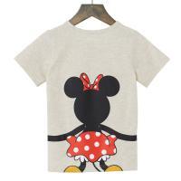 【Disney】ディズニー  つながるプリントTシャツ(キッズ)  ミニーマウス(オートミール)  140