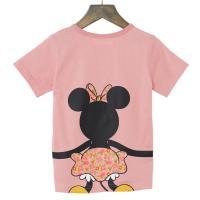 【Disney】ディズニー  つながるプリントTシャツ(キッズ)  ミニーマウス(ピンク)  110