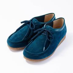 【足にやさしいこだわり設計】大人が贅沢に履ける本革オブリークモカシューズ ネイビー