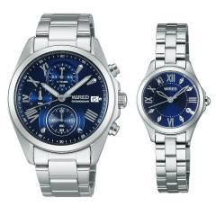送料無料 セイコー ワイアード ペアウォッチ blue SEIKO WIRED&WIREDf AGAT405-AGEK423 32,0