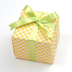 ラッピング チェックオレンジ(※商品ご購入者様のみの対象サービス品です。こちらのみでのご購入はできません。)