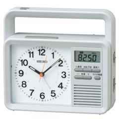 セイコー ラジオ ライト付目覚まし時計 防災クロック 手回し充電付 KR885N
