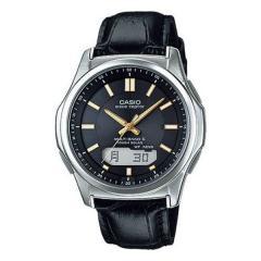 カシオ ウェーブセプター 電波ソーラー レザーバンド 腕時計  (bk) CASIO WVA-M630L-1A2JF